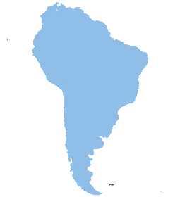 The continent South America