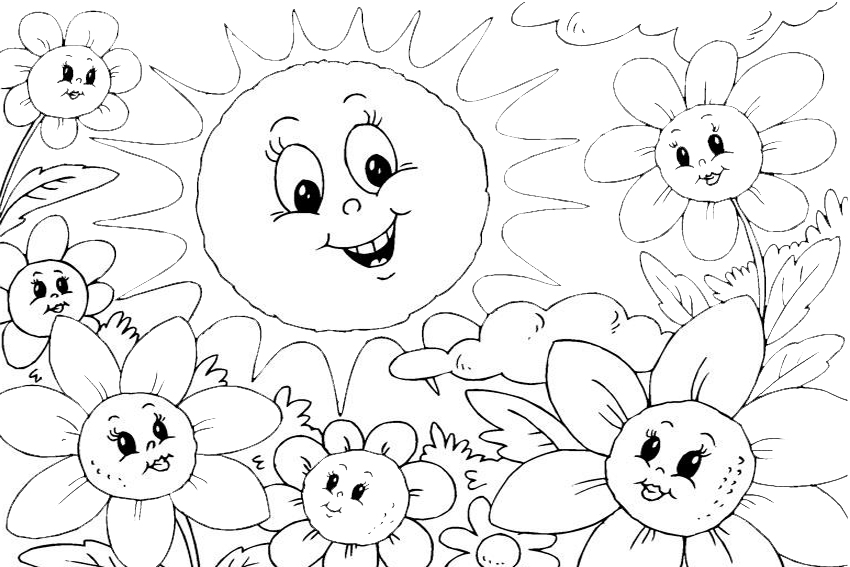 Summer coloring pages to be prepared