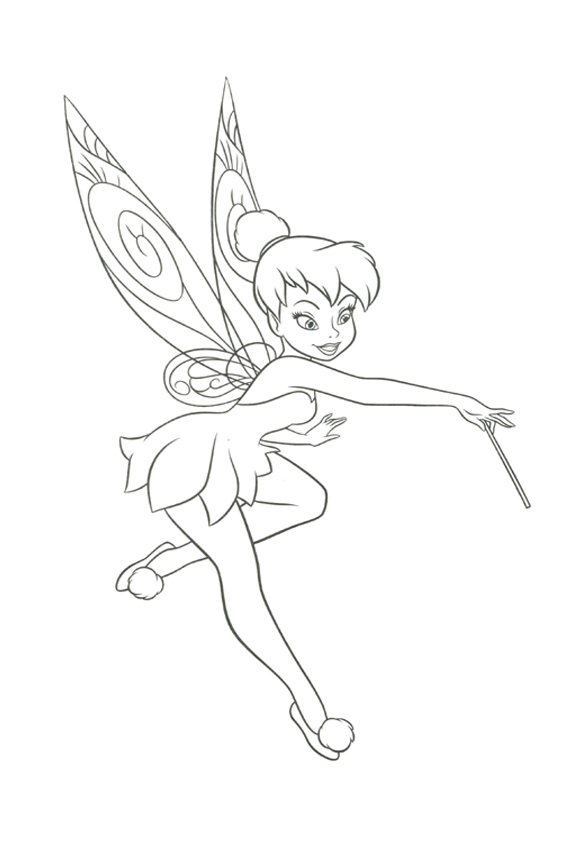 tinkerbell head coloring pages - photo#25