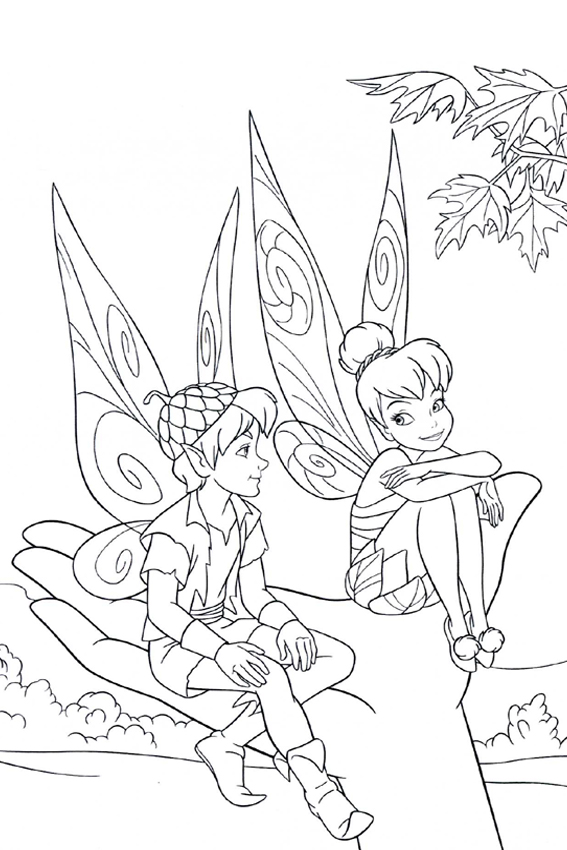 tinkerbell head coloring pages - photo#40