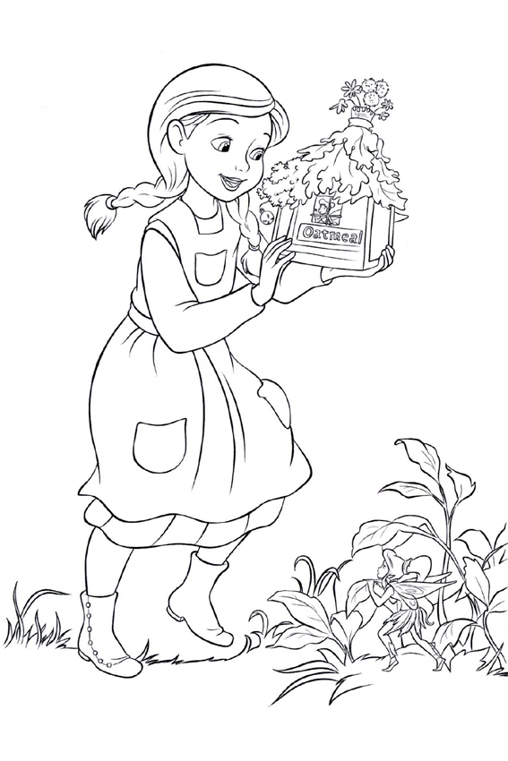 Tinkerbell coloring pages overview