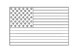 Color in the United States of America flag