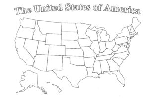 Coloring map of the USA