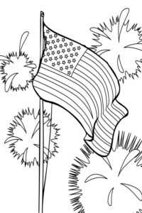 States of America coloring page