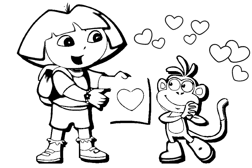 valentine coloring pages 001 - Valentine Day Coloring Pages