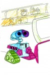 Wall-e colored in