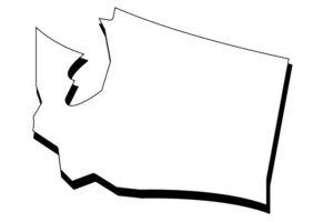 blank WA map