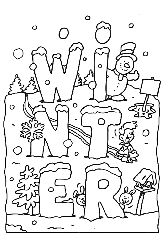 snow coloring pages free - photo#20